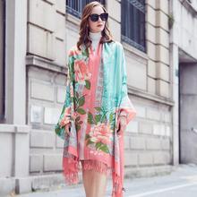 Wool Women Scarves Stoles Elegant Carf Warm Shawl Bandana Scarf Luxury Brand Muslim Hijab Beach Blanket Face Shield Foulard