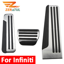 Zeratul Auto for Infiniti G25 G35 G37 Q50 Q60 EX25 QX50 QX70 EX FX M25 Q60S Car Pedals Gas Brake Pedal Cover Rest Pedale