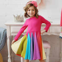 2020 nuevo vestido de niña ropa de algodón para niños Vestidos de manga larga para niñas Vestidos de arco iris Vestidos de Primavera de unicornio para ni un vestido de niña