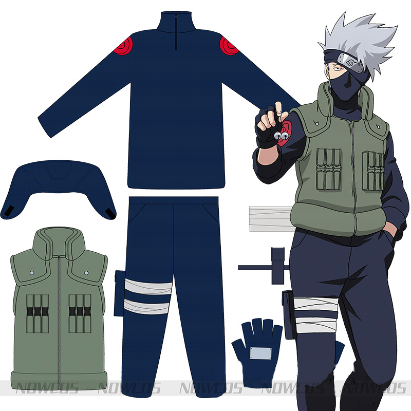 Adult Hatake Kakashi Cosplay Costume Christmas Halloween Costumes Cosplay Naruto Suit Hatake Kakashi Costume For Men