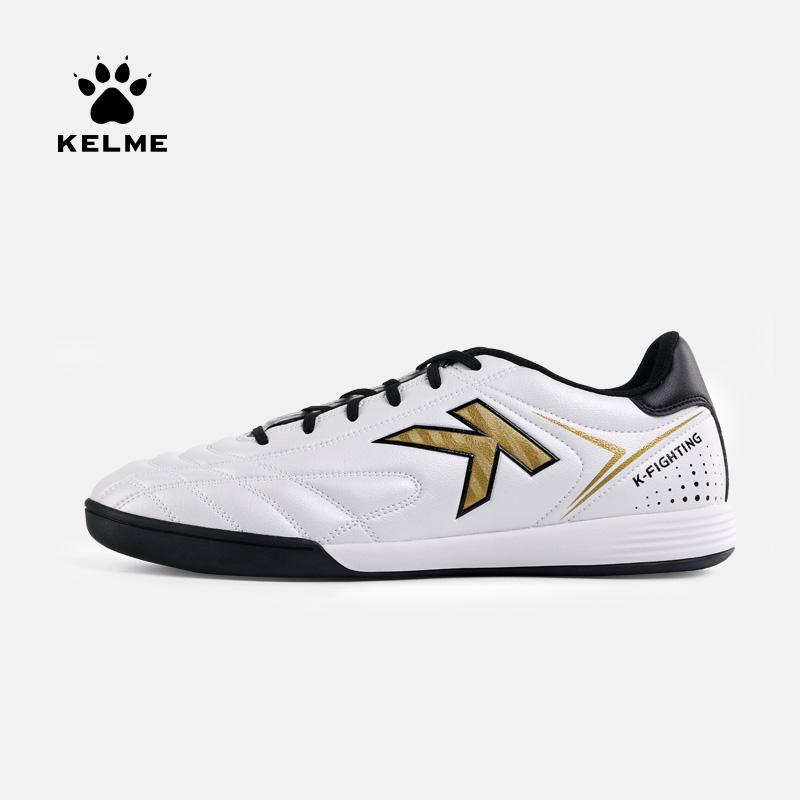 KELME Football Boots Men Soccer Shoes Original Indoor Football White Sneakers Shoes Cleats Football Futsal Boot Male 6891146|Soccer Shoes|Sports & Entertainment - title=