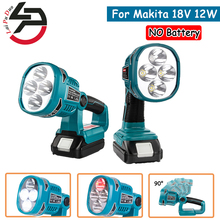 Lampe de poche lampe à LED 12W pour Makita 18V BL1430 BL1830, sans batterie, sans chargeur, batterie au Lithium, éclairage extérieur USB
