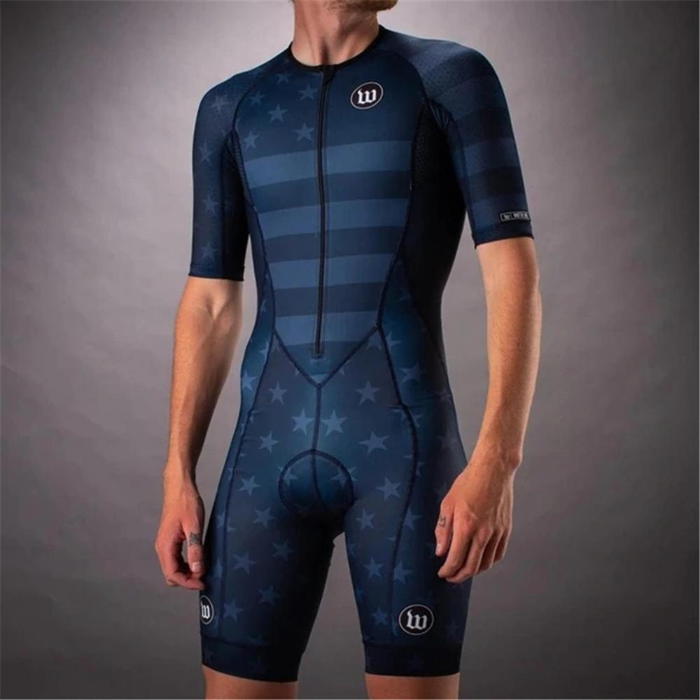2020 wattie ink triathlon jersey skinsuit cycling mens bicycle sports ciclismo body set splash clothes MTB speed suit jumpsuit