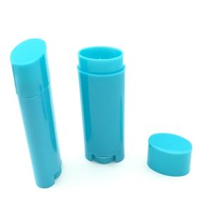 Image 5 - 100Pcs Empty 4.5g / 0.15oz multi colour Tubes Lip Balm Tubes Lipstick Containers DIY Cosmetic Tube Oval Flat Bottle