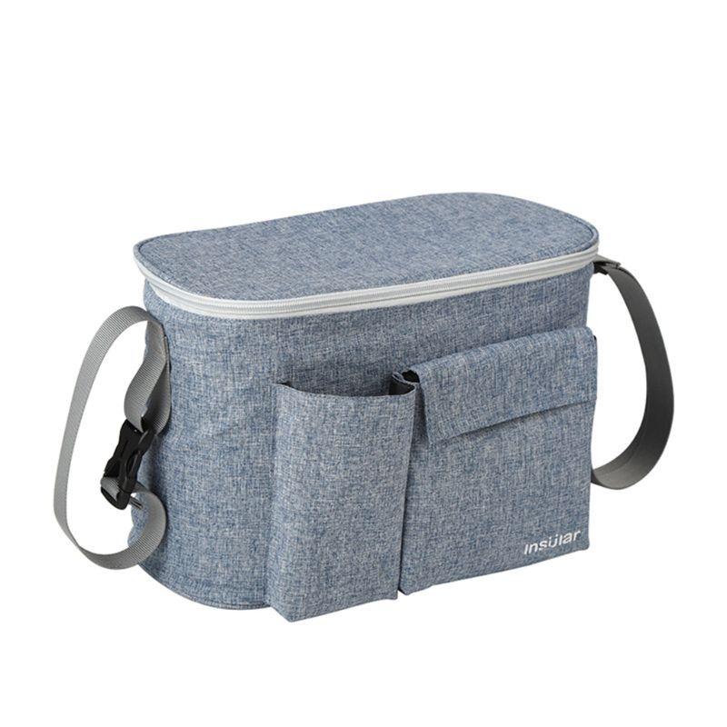 Baby Stroller Bag Pram Nappy Organizer Travel Pushchair Hanging Milk Bottle Bag H55B
