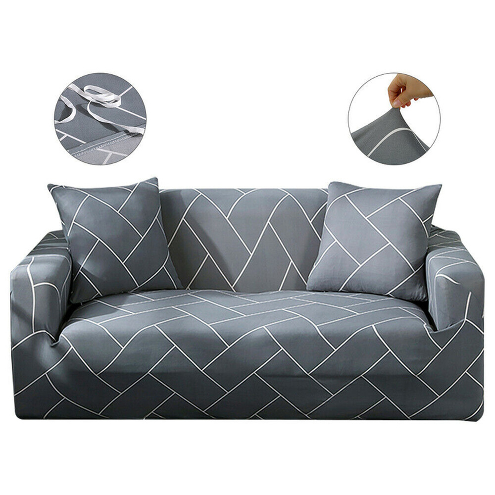 Modern 1/2/3 Seater Elastic Sofa Covers Non-slip Slipcover Settee Stretch Couch Protector For Living Room Home Decor