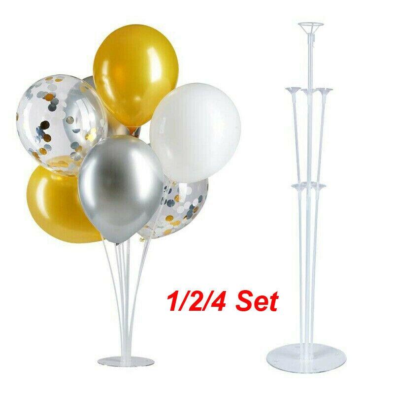 1 Set//7 Tubes Balloon Column Upright Balloons Display Stand Wedding Party Decor