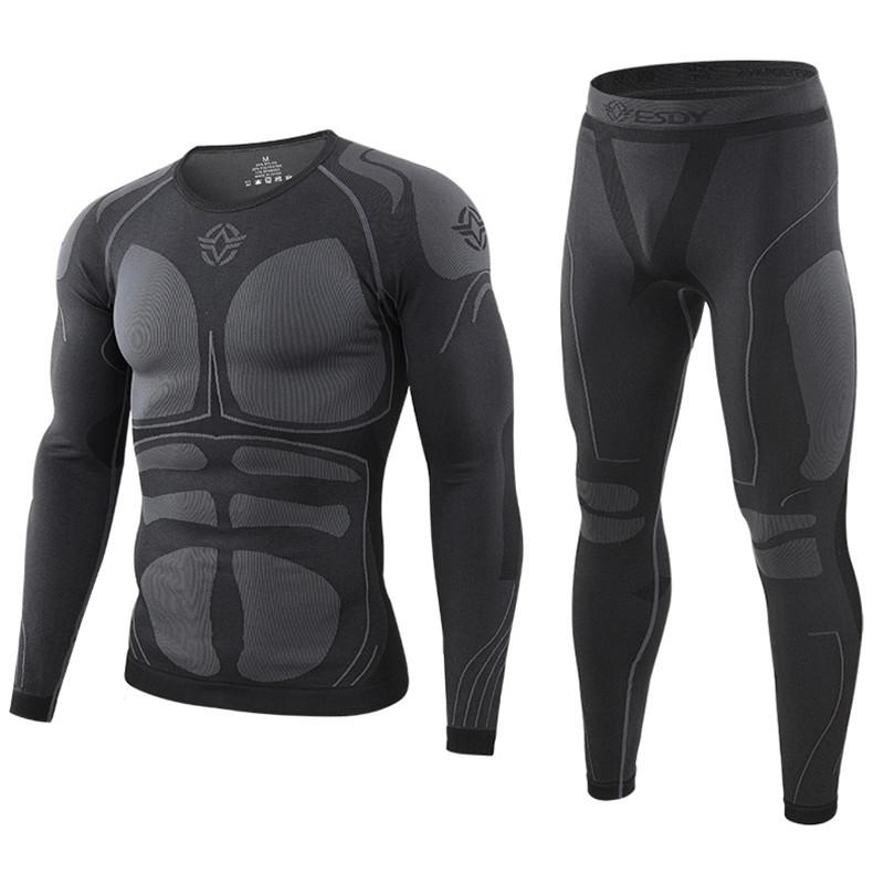 Winter Top Quality Thermo Cycling Clothing Men's Thermal Underwear Men Underwear Sets Compression Training Underwear Men Clothin