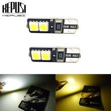 2x T10 Led Car Interior Bulb Canbus Error Free White 5050 LED 12V Side Wedge Light Lamp Styling