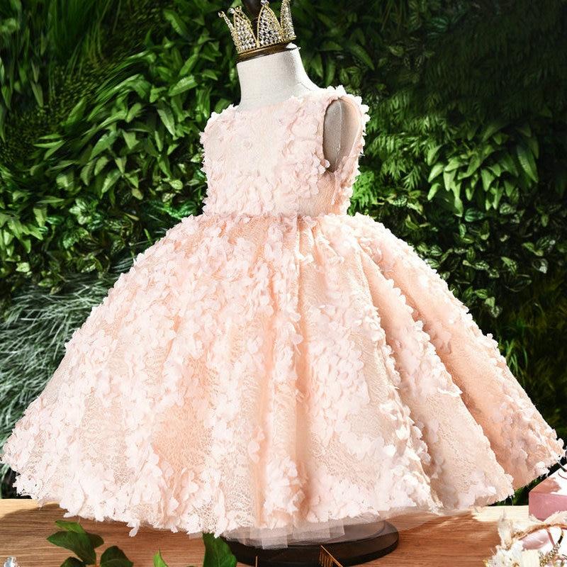 Baby A Year Of Age Formal Dress Women's Children Birthday Girls Princess Skirt Flower Boys/Flower Girls GIRL'S Nobility Late For