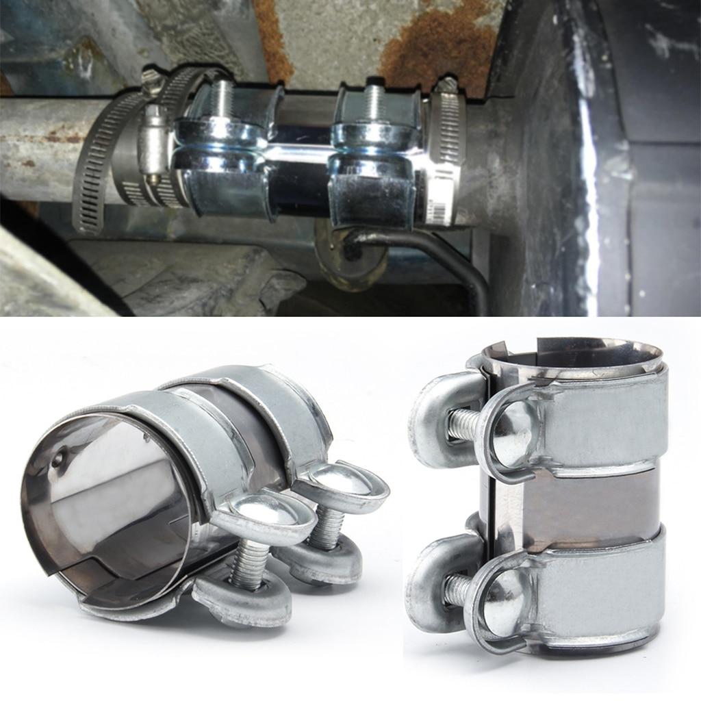Нержавеющаясталь универсальная выхлопная труба из оцинкованной стали с зажимом хвост горло зажим 2,5 дюймов