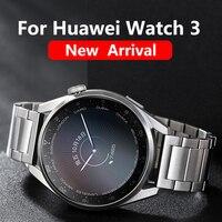 Originele Titanium Grey Strap Voor Huawei Horloge 3 Pro Rvs Correa Metalen Horloge Band Voor GT2 Pro 46Mm GT2e Wrist Band