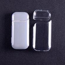 1 pçs transparente portátil protetor de poeira à prova danti água anti risco protetora caso duro para iqos cigarro eletrônico acessórios