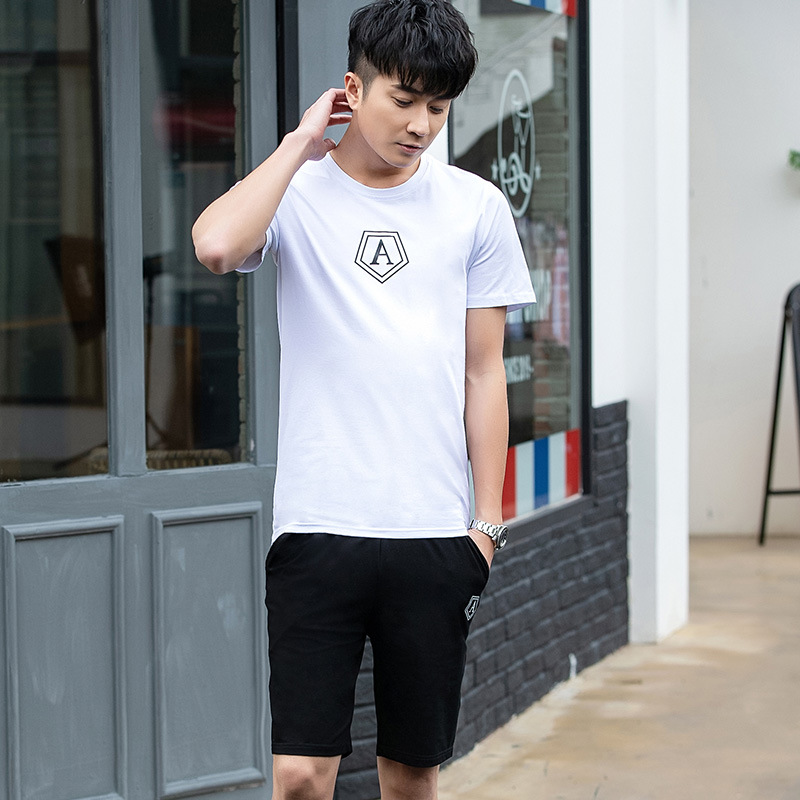 2019 Cotton Men Slim Fit Short Sleeve Korean-style Fashion Half Sleeve T-shirt On Clothes Spring And Summer Base Shirt Trend Men