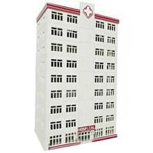1:150 N Skala Sand Tisch Dekoration DIY Montage Modell Krankenhaus Gebäude Modell Pädagogisches Spielzeug Geburtstag Geschenk Für Kind Kind Erwachsene