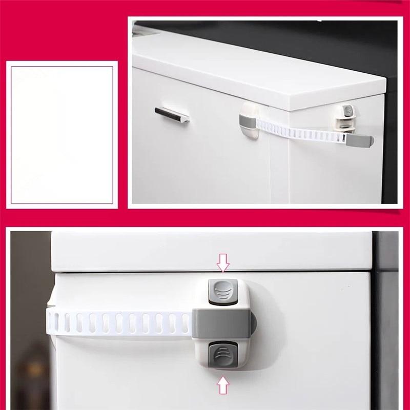 New Fashion Safety Lock Protection Drawer Cabinet Refrigerator Lock Child Safety Multifunctional Adjustable Drawer Lock