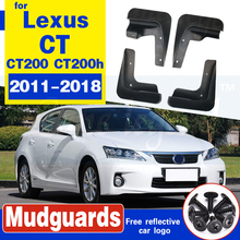 Mud Flaps For Lexus CT 200 CT 200h 2011-2018 Mudflaps Splash Guards Front Rear Mud Flap Mudguards Fender CT200h 2012 2013 2014 2 pcs mud flaps splash guards front protective guard from splash guard splashproof for jeep grand cherokee 2011 2012 2013 standard