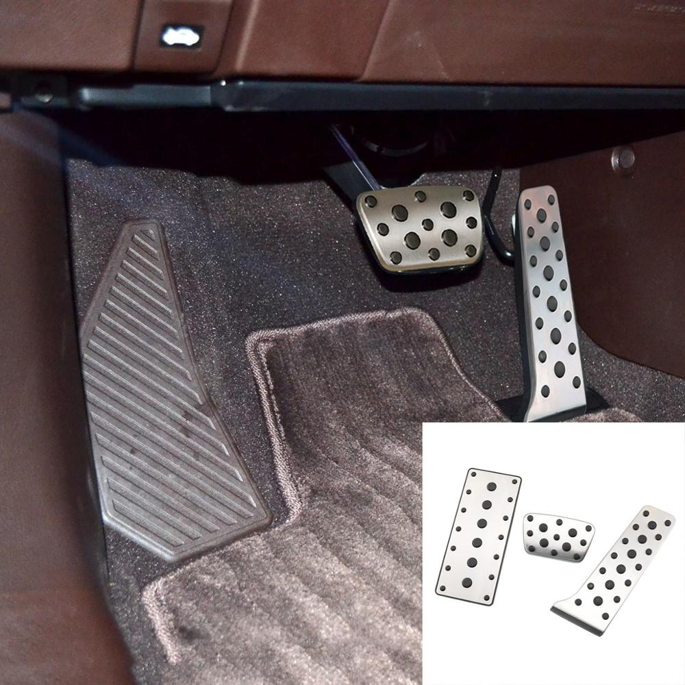 Non Slip Stainless steel Car-styling Brake Accelerator AT Pedal cover Fit For <font><b>Lexus</b></font> RX200T <font><b>RX350</b></font> RX450H 2015 - <font><b>2018</b></font> <font><b>Accessories</b></font> image