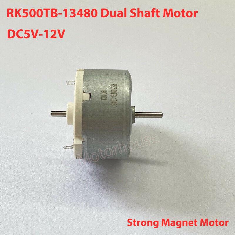 , Маленького размера, круглой формы с диаметром 32 мм RK500TB-13480 двойной оси двигатель с источником питания от постоянного тока, 6V-12V двойной вал ...