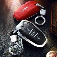 Funda protectora para llave de coche Peugeot, carcasa de piel de gamuza de aleación de Zinc para modelos 301, 308, 308S, 408, 2008, 3008, 4008, 5008, 508, RCZ, 208 y 307