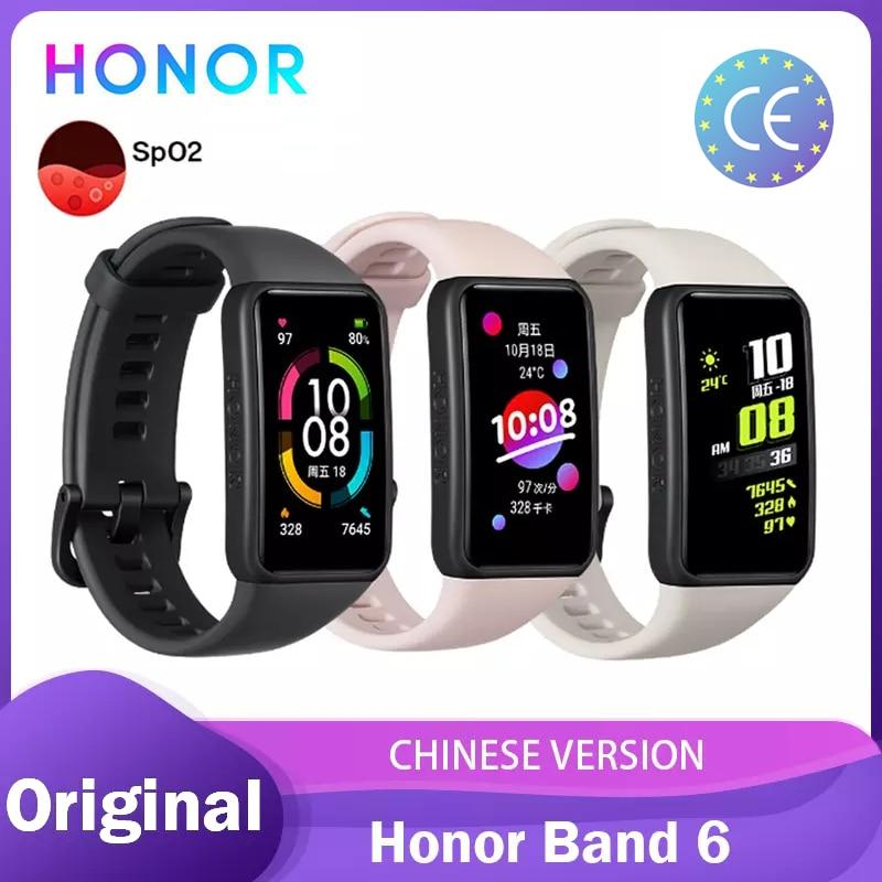 Honor Band 6 Band6 Bracelet intelligent 1.47 pouces natation étanche Bluetooth Fitness surveillance de la fréquence cardiaque musique appel | AliExpress