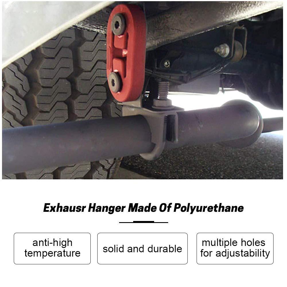 2Pcs Black Polyurethane Auto Car Exhaust Muffler Hangers Mount Bracket Universal