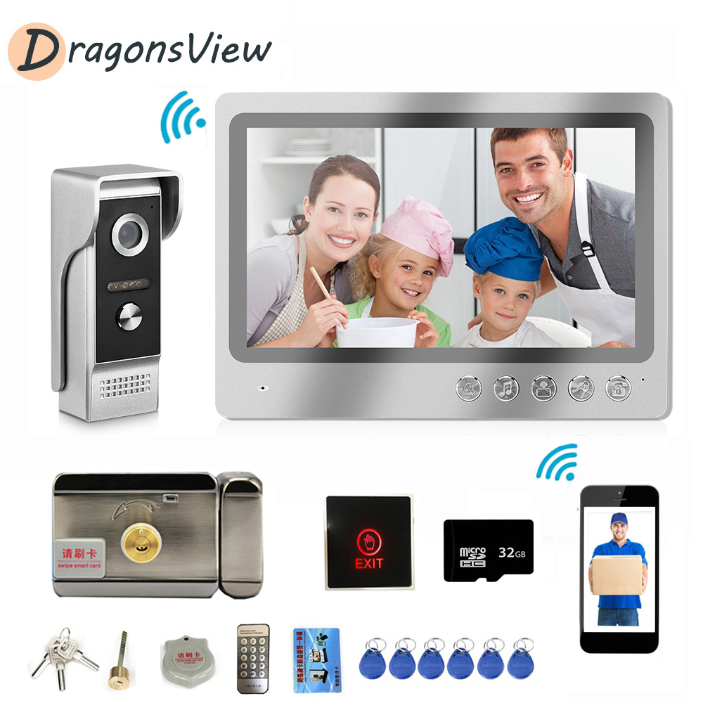 Wifi Video Intercom Door Phone 9 Inch Digital HD LCD 1000TVL Doorbell Camera With Motion Detection Remote Unlock DragonsView