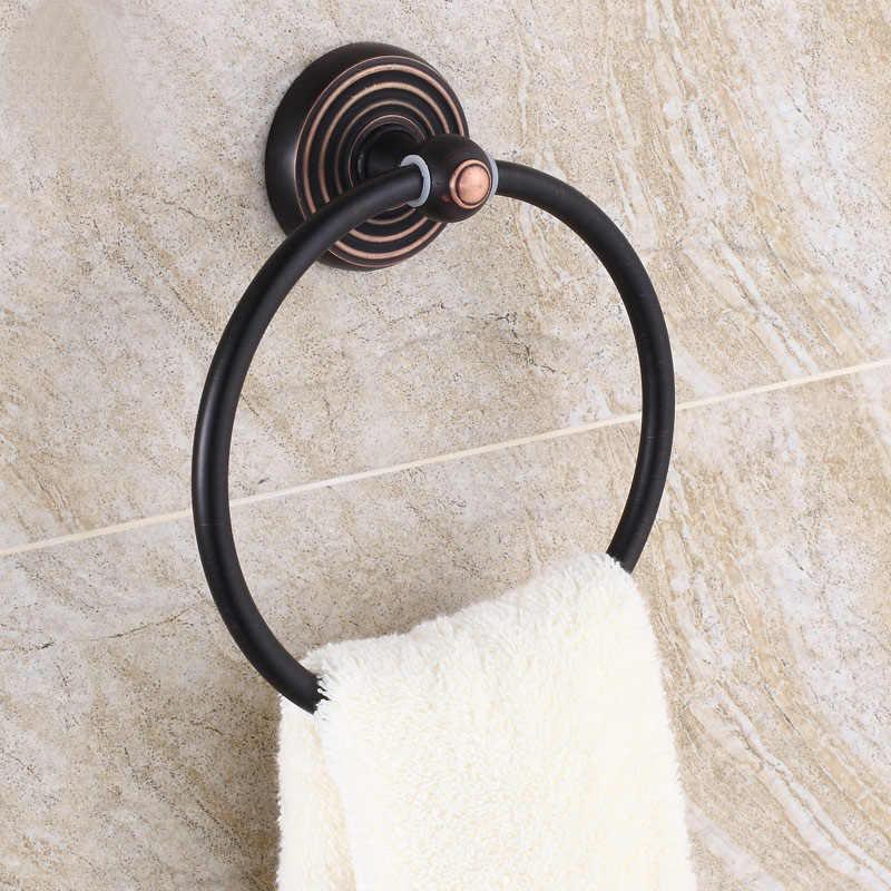Olej wcierane brąz do montażu na ścianie ręcznik okrągły pierścień uchwyt na ręcznik łazienkowy wieszak na ręczniki wieszak na ręczniki do łazienki akcesoria BD958
