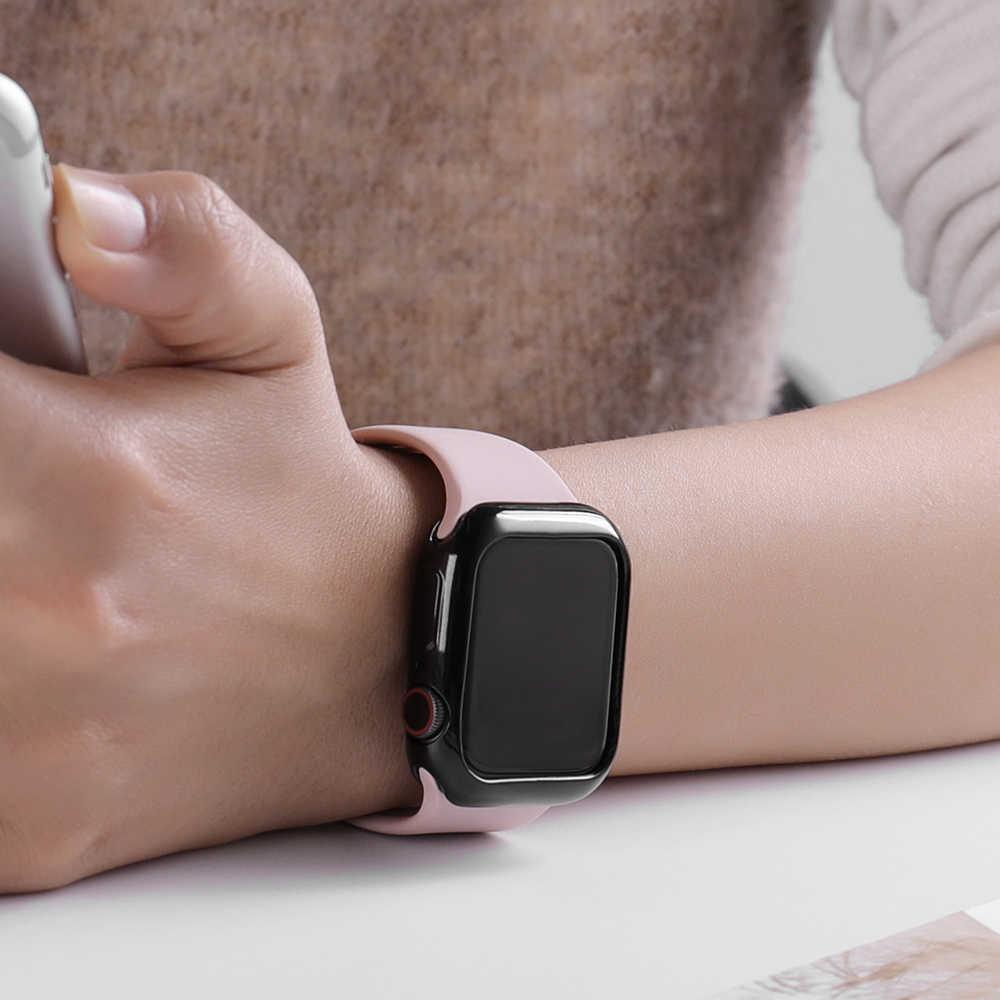 Zegarek etui ultra cienkie pozłacany zegarek przypadku dla Apple 4 3 2 1 42MM 38MM miękkie przezroczyste etui z termoplastycznego poliuretanu dla iWatch 5 44MM 40MMaccessories