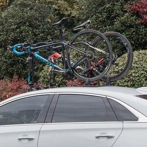 Image 5 - Rockbros carro telhado superior sucção transportadora rack de bicicleta para montanha mtb estrada bicicleta hub rápida instalar vácuo chuck fixação acessório