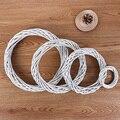 Может занять от 10 до 30 см рождественское кольцо из ротанга белый венок, гирлянда висит лоза кольцо DIY украшения для рождественской вечеринки...