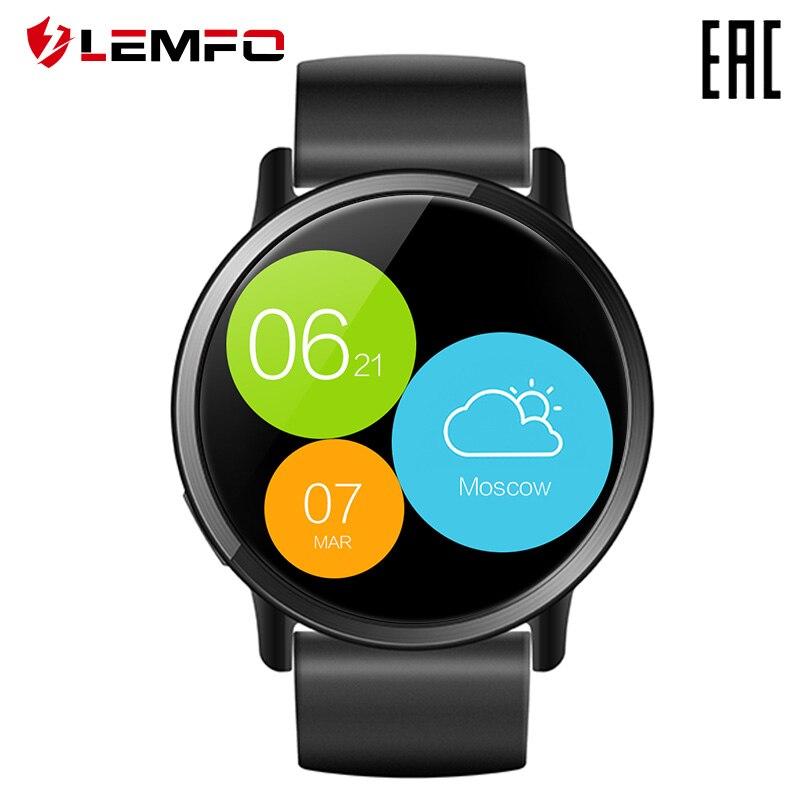 El reloj inteligente LEMFO el lema X admite idioma ruso. Garantía oficial de 1 año [entrega desde Rusia]