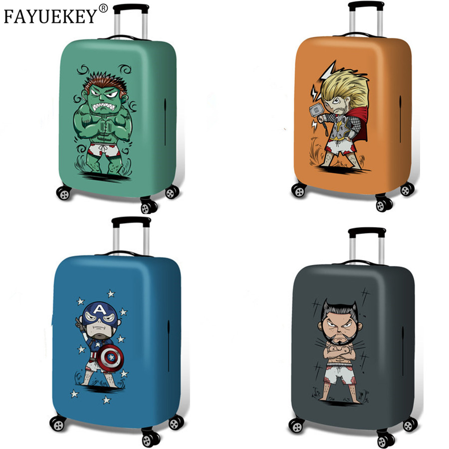 For 18-32 Inch Avengers Suitcase Case Dust Cover Travel Accessories Thicken Luggage Protective Covers Elasticity Luggage Cover