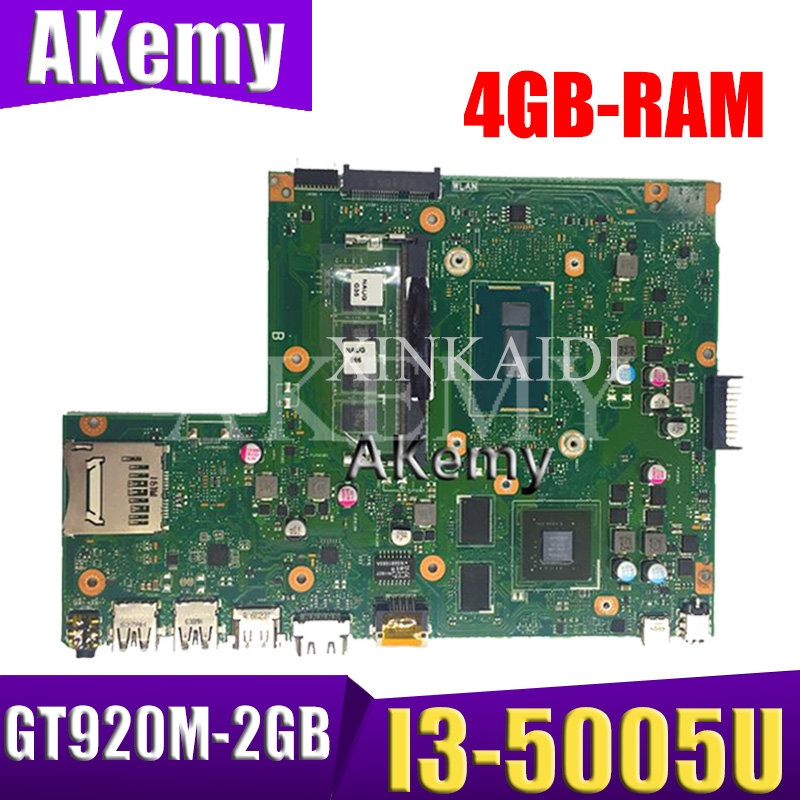 Akemy X540LJ Laptop Motherboard For ASUS VivoBook X540L F540L A540L R540L Original Mainboard 4GB-RAM I3-5005U GT920M-2GB