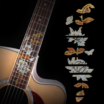 Acoustic Electric Guitar Personal Fretboard Marker / Decals For Guitar Fret Neck New high quality guitar fretboard markers inlay sticker decals star shape for electric acoustic classical guitar bass ukulele