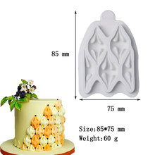 2020 New trends Cake decorating Mold Easy Fabric Puff Silicone Mould Baking Billow Puff Fondant Icing Mold Tool DIY Cake Tool