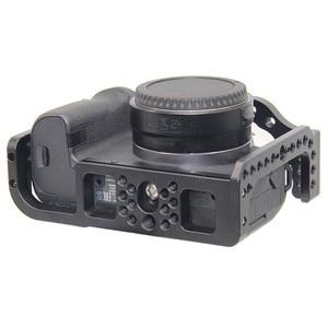 Image 5 - Schutzhülle Kamera Käfig für Canon EOS R w/ Coldshoe 3/8 1/4 Gewinde Löcher Arca Swiss Schnell Release Platte kamera Zubehör