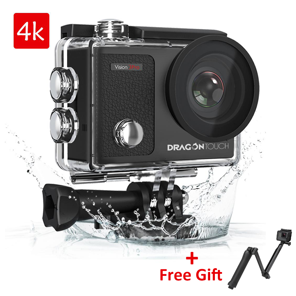 Drachen Touch Action Kamera <font><b>4K</b></font> 16MP Vision 3 Pro mit Touch Screen WIFI 100ft Wasserdichte Kamera 170 ° Breite winkel Sport Kamera image