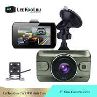 """LeeKooLuu voiture DVR 2 caméras objectif 3.0 """"Dash caméra double lentille avec caméra de recul enregistreur vidéo enregistreur automatique Dvrs Dash Cam"""