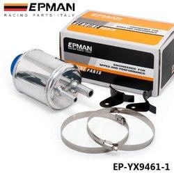 Srebrny Jdm aluminium wyścigi wspomaganie układu kierowniczego zbiornik płynu zaciski zbiornika EP-YX9461-1