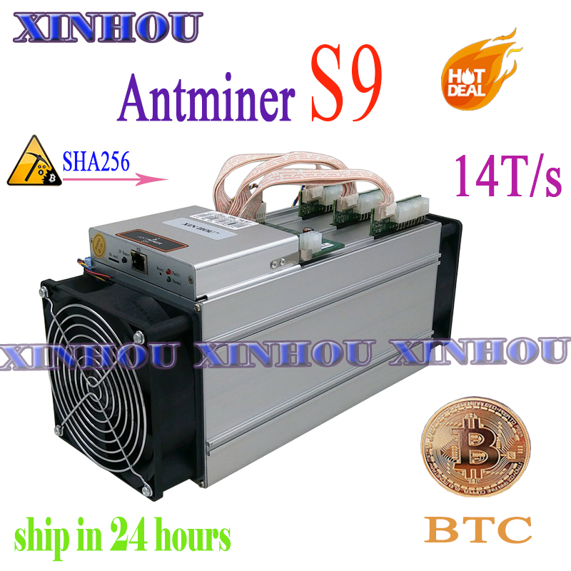 Used BTC BCH Miner Antminer S9 14TH/s Asic SHA256 Bitcoin Miner (no PSU) More Economical Than Antminer S9i Z9 T9 A9 DR3 M10
