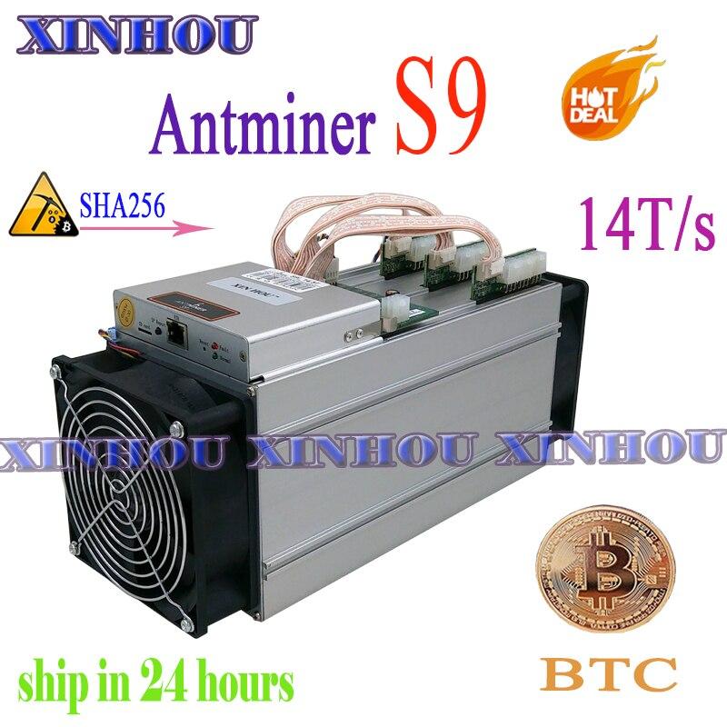 Utilisé BTC BCH mineur Antminer S9 14TH/s Asic SHA256 Bitcoin mineur (pas de PSU) plus économique que antminer S9i Z9 T9 A9 DR3 M10