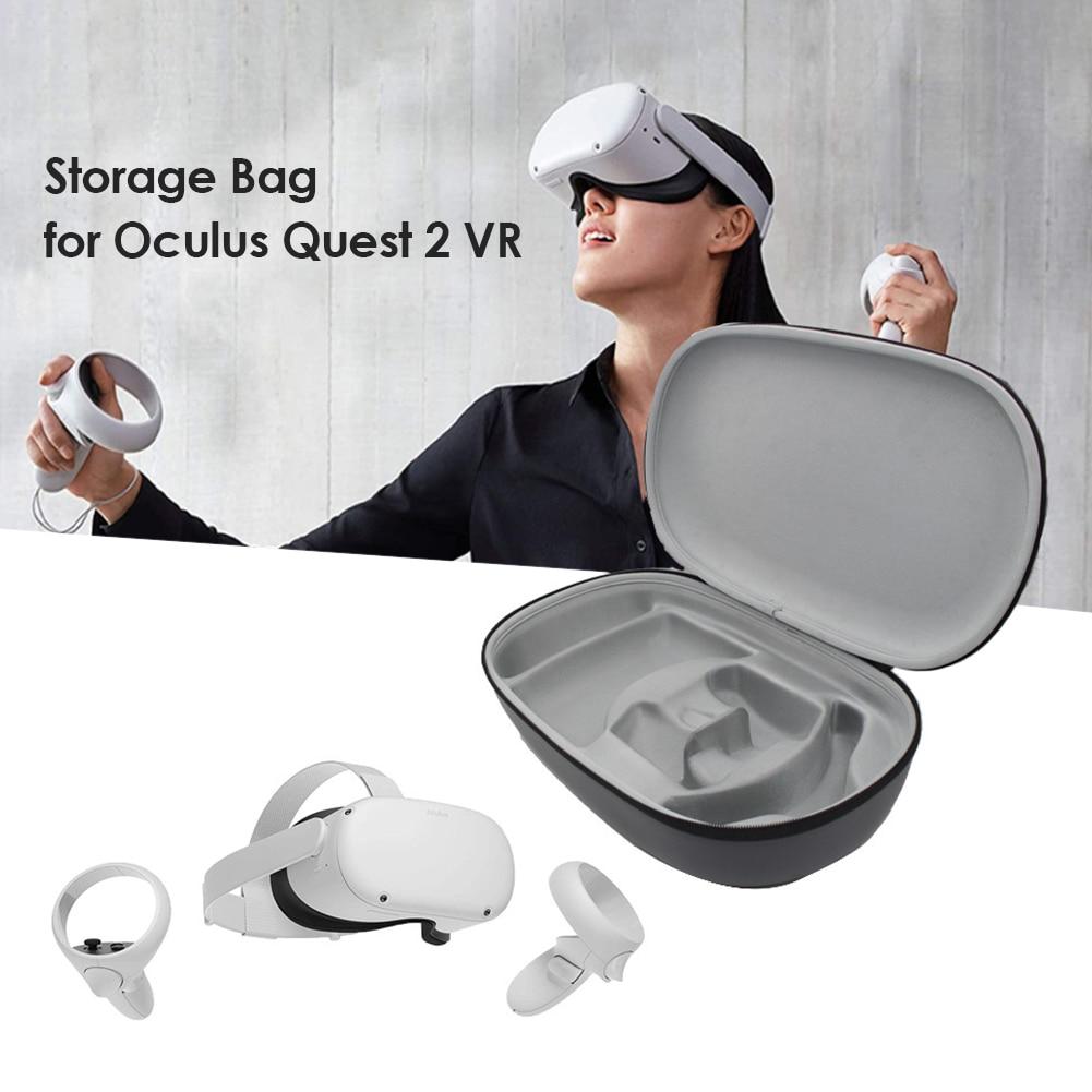Жесткий чехол из ЭВА для Oculus Quest 2, водонепроницаемый чехол для контроллера гарнитуры VR, дорожный портативный защитный чехол для переноски