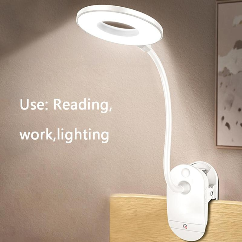 Desk Lamp USB LED Table Lamp 14 Led Table Lamp With Clip Bed Reading Book Light Led Desk Lamp Table 3 Modes