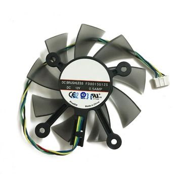 75MM FD8015U12S DC12V 0.5AMP 4PIN Cooler Fan For GTX 560 GTX550Ti HD7850 Graphics Video Card Cooling Fans R66F image