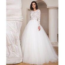 Verngo кружевное свадебное платье с длинными рукавами 2020 винтажная