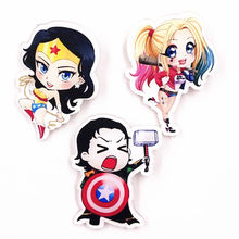 1pcs Cute Anime Wonder Woman Pins Brooches Badge for Women Kids Backpack Decoration Acrylic Badges Icons Badges Girls Gift(China)