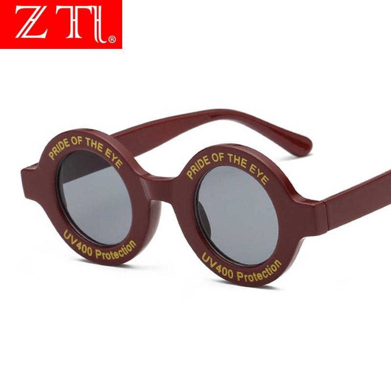ZT Ins Hot Popular Round Letters Sunglasses Women Letter Trend Sun Glasses Female UV400