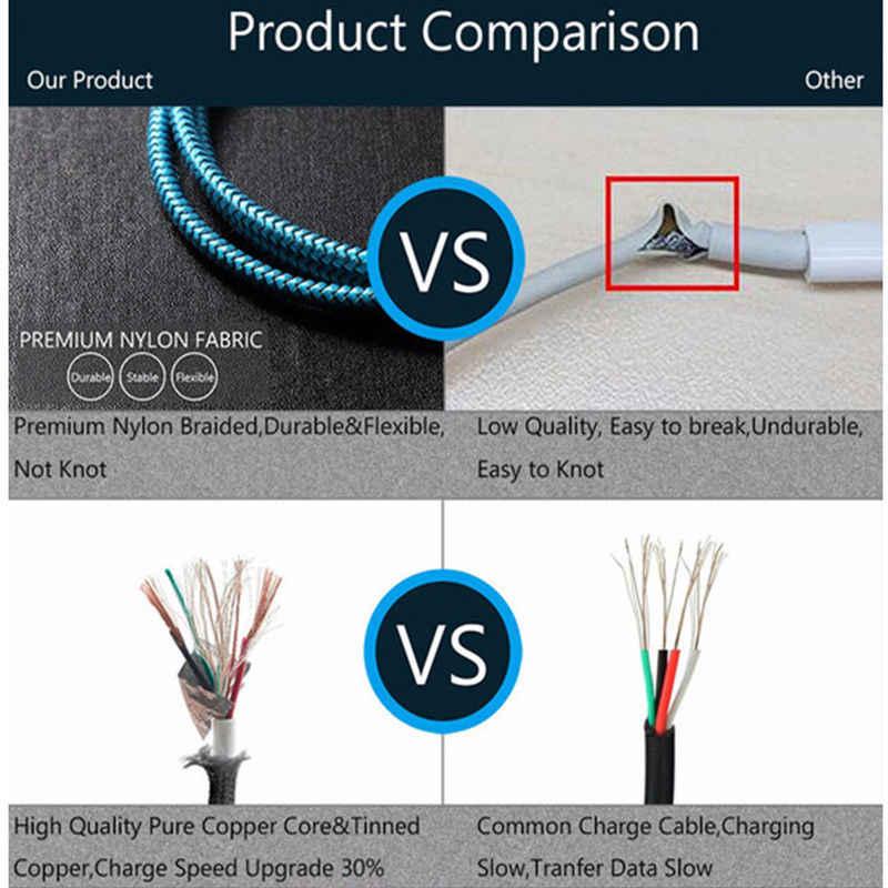 كابل مايكرو USB شاحن سريع USB كابل بيانات لسامسونج غالاكسي J5 J3 J7 Prime 2017 2016 2015 J2 برو 2018 J4 J6 زائد J8 شحن