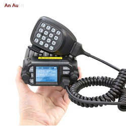 QYT KT-8900D VHF UHF Mobile Radio 2 Way Radio Quad Display Dual Band Mini Car Radio 25W Walkie Talkie KT8900D